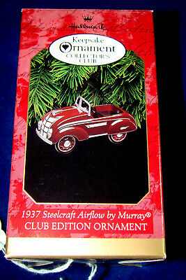 HALLMARK ORNAMENT -1937 STEELCRAFT AIRFLOW by MURRAY- 1997 NIB