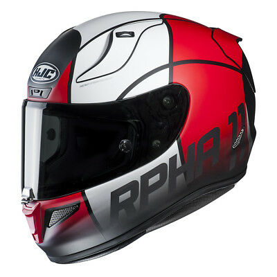 HJC RPHA 11 Full Face Sports Motorcycle helmet Quintain Red Was £360
