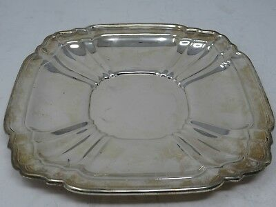 Gorham Sterling Silver 925 Square Shaped Tray  Plate  448 grams Pre Owned