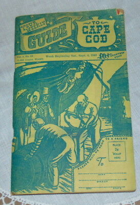 Vintage 1948 Cape Cod Guide Weekly Soft Cover Sept 4 1948 Ephemera