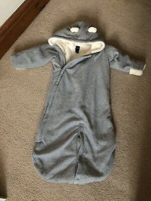 429166cf7 BABY GAP UNISEX Faux Fur Lined Pramsuit Snowsuit 6 mth 8 kg All-in ...