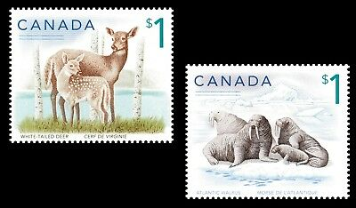 Canada 1688-1689 White-Tailed Deer Atlantic Walrus $1 set (2 stamps) MNH 2005