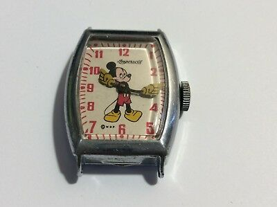 Late 1940's Mickey Mouse Wrist Watch made by Ingersoll co. Working condition