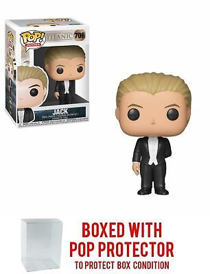 Funko POP! Titanic: Jack - Vinyl Figure 706 + Bundled w/ Pop BOX PROTECTOR CASE