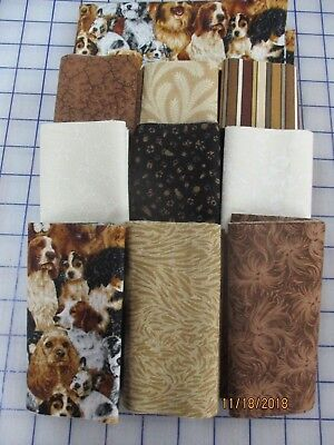 Adorable Love My Dogs Disappearing 9 Patch Quilt Top Kit