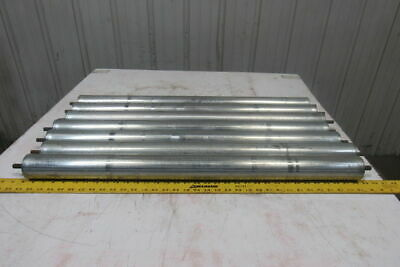 """2-1/2"""" OD 33.25"""" BF 33.5"""" Face Gravity Conveyor Roller 7/16"""" Hex Axle Lot Of 7"""