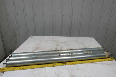 """2.5"""" OD 43-1/4""""BF 43"""" Face Gravity Conveyor Roller 7/16"""" Hex Axle Lot of 3"""