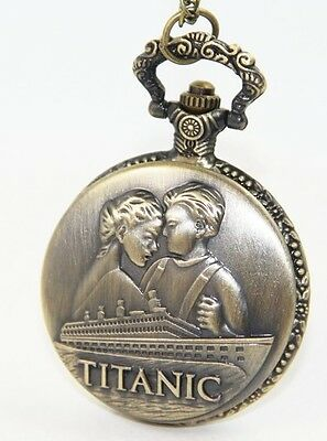 Titanic Pocket Watch Rose & Jack Leonardo DiCaprio Kate Winslet Film Classic UK