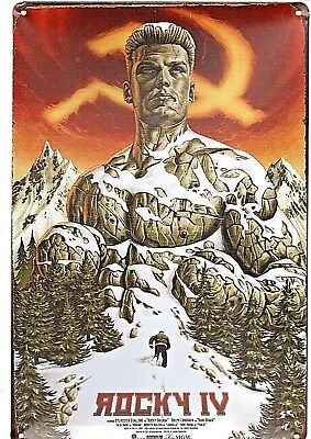 Rocky IV Tin Sign Film Poster Russia 2018 Sylvester Stallone Creed 2 III II I US