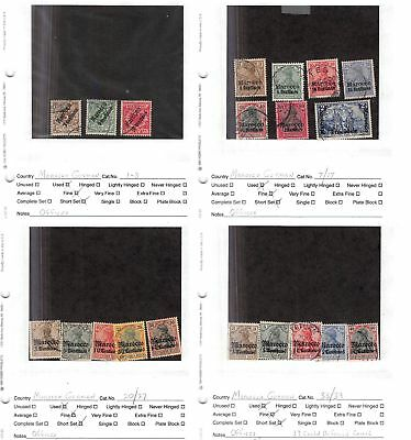 Lot of 20 German Offices in Morocco Used Stamps Scott Range 1 - 39 #132288 X