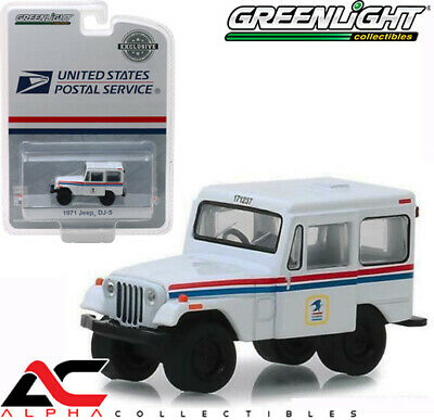 Pre Greenlight 29997 1:64 United States Postal Service Usps Dj-5 Delivery Jeep