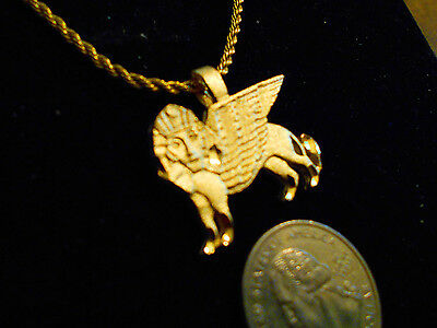 bling gold plated MYTH LEGEND SPHINX Charm Pendant hip hop Necklace JEWELRY GP