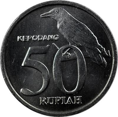 Indonesia -  50 Rupiah - 1999 - Unc - Black-Naped Oriole Bird