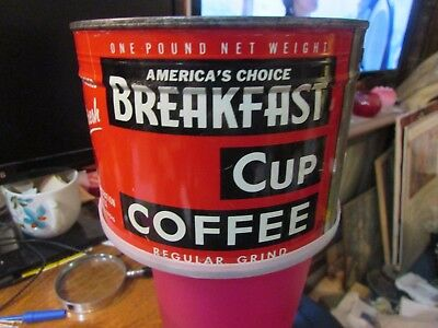 NOS Unopened 1 pound Can BREAKFAST CUP COFFEE