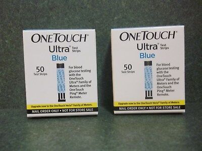 One Touch Ultra Blue Test Strips (New - 2 Boxes Of 50 Each - Expire 11-30-19)