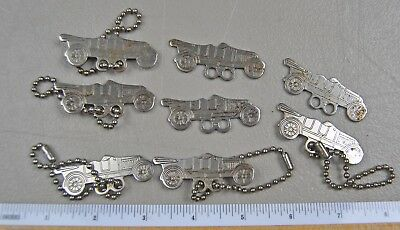 (8) c.1920's Tour car Key Chain AO Mercil Madison st Chicago or Wisconsin LOT s1