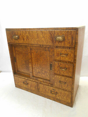 Antique Tamo-Moko Choba Dansu Cabinet Cupboard Drawers Japanese 1920s #192