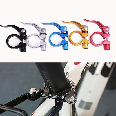 Colorful Mountain Bike Seat Post Clamp Aluminum Alloy Bicycle Quick Release
