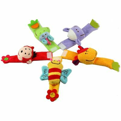 New Animal Lovely Gifts Rattles Doll Wrist Strap Toy Soft Plush
