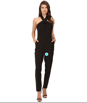 85b0d789c4ae ADELYN RAE MIXED MEDIA BLACK JUMPSUIT sz M -  59.99