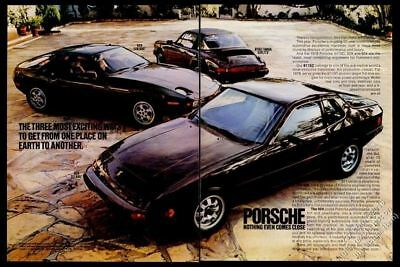 1978 Porsche 911 SC Targa 911SC 928 924 3 car photo vintage print ad