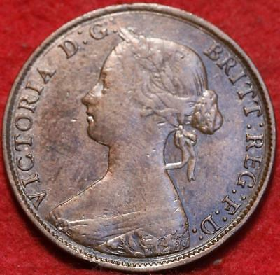1861 Great Britain 1/2 Penny Foreign Coin