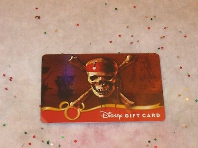 Disney Collectible Gift Card Pirates of the Caribbean Skull Crossbones NO VALUE
