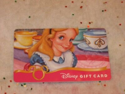 Disney Collectible Gift Card Alice In Wonderland, Cheshire Cat & Tea Cup Ride