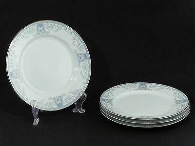 Lenox Bouquet Collection WHITE HEATHER Luncheon Plates - Set of 4