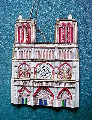 Cathedrals Of The World Christmas Ornament  Notre Dame