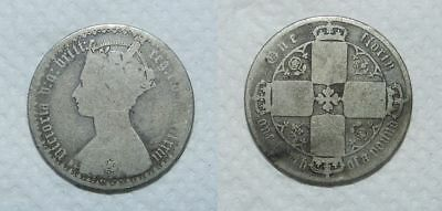Great Britain :  Silver Gothic Florin 1873