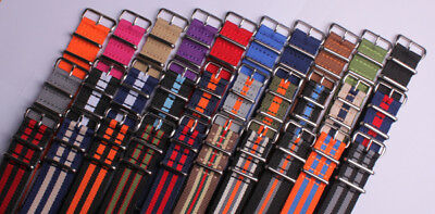 silver buckle Nylon Watch band watch strap watch 31olor available 1pcs