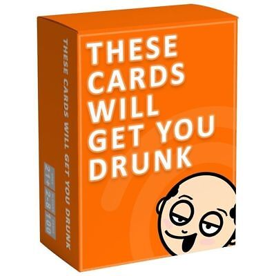 These Cards Will Get You Drunk - Fun Adult Drinking Game For Parties 2-8 Players