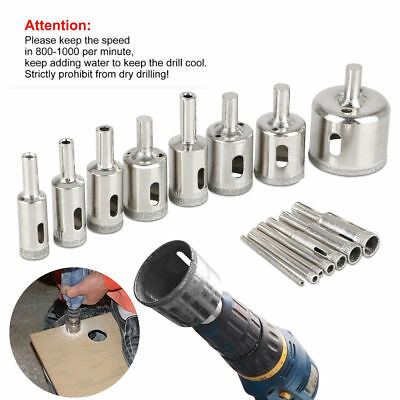 15PCS 3-42mm Diamond Coated Core Hole Saw Drill Bit Set Tools for Glass Marble