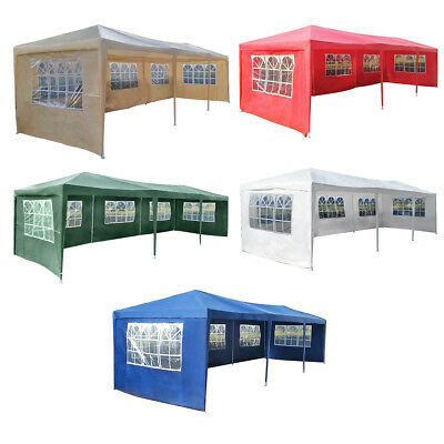3M x 9M Waterproof Outdoor PE Garden Gazebo Canopy Party Wedding Tent Folding