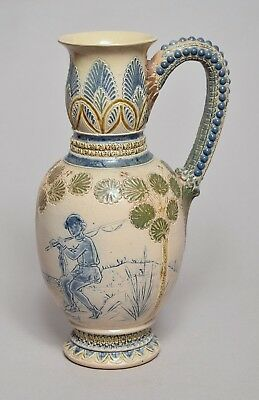 A Superb Large Antique Martin Brothers Stoneware Jug, Double Signed, 1874