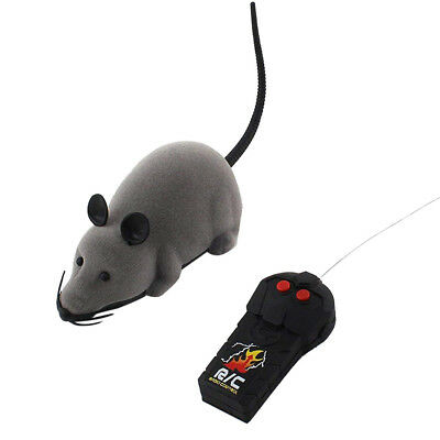 RC Funny Wireless Electronic Remote Control Mouse Rat Pet Toy For Cat Dog Pets E
