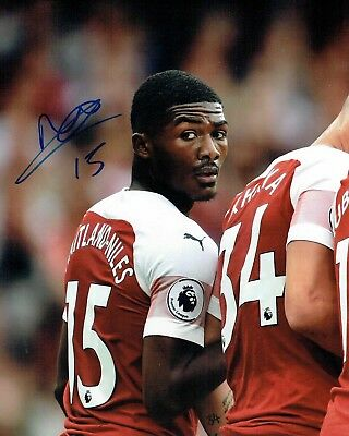 Ainsley MAITLAND-NILES Arsenal Football SIGNED Autograph 10x8 Photo COA AFTAL