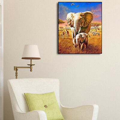 DIY Diamond Painting Forest Elephants Embroidery Cross Stitch Bedroom Decor BS