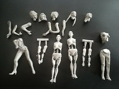 54mm Body woman metal Kit for model and painting