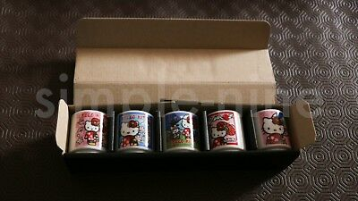Hello Kitty Small Mini Cup Set of 5 Five Collection, Different Styles Designs