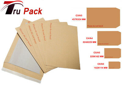 A3 Size Please Do Not Bend Cheap Hard Card Board Backed Manilla Envelopes Brown