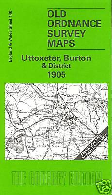 Old Ordnance Survey Map Uttoxeter, Burton & District 1905