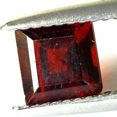 #1.49 cts. 6 x 4.1 mm. UNHEATED NATURAL RED ALMANDINE GARNET SQUARE AFRICA
