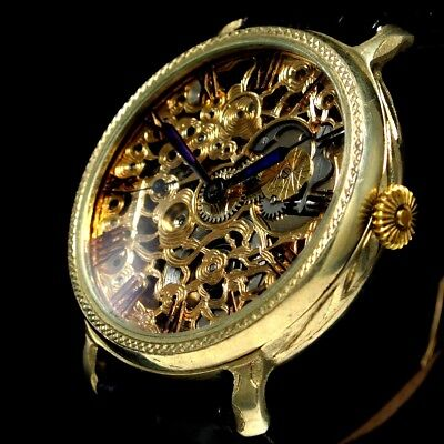 Longines Vintage Men's Wristwatch Mechanical Skeleton Mens Wrist Watches Swiss