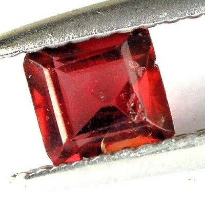 #0.68 cts. 5 x 3 mm. UNHEATED NATURAL RED ALMANDINE GARNET SQUARE AFRICA