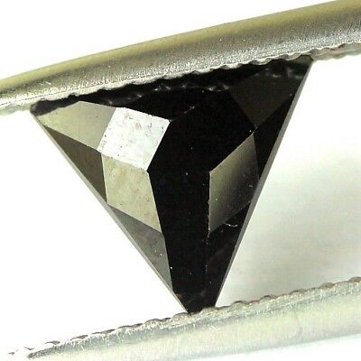 #1.16 cts. 7.3 x 3.3 mm.UNHEATED NATURAL BLACK ONYX TRIANGLE INDIA