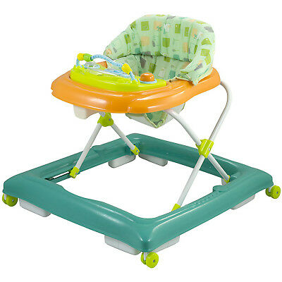 iSafe Playtime Baby Walker Musical Electronic Play Tray Adjustable Height- Green
