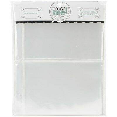"""Misc Me Recipe Page Protectors 8""""x9"""" 40/pkg-variety Pack"""
