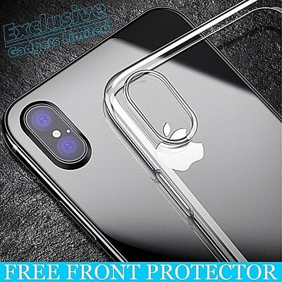 Luxury Ultra Slim Shockproof Hybrid Silicone Clear Case Cover for iPhone Phones